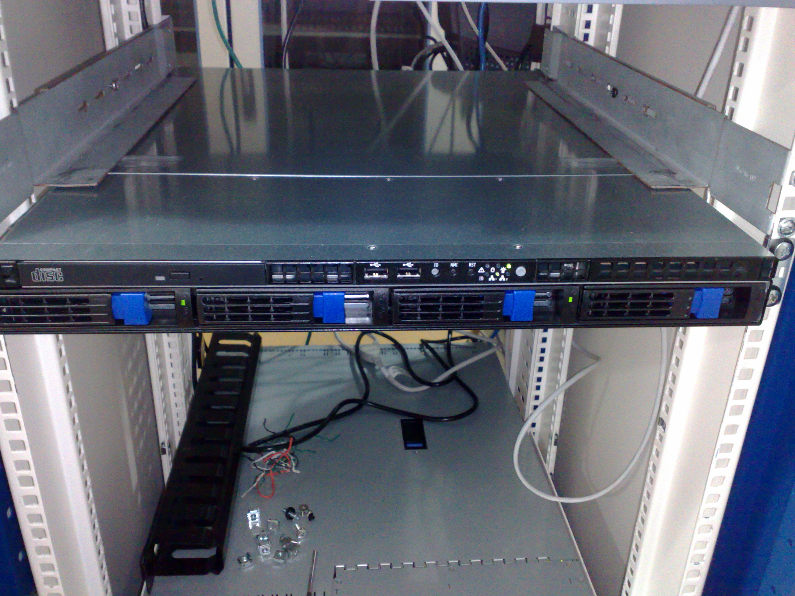 Tyan server at 1-Net rack