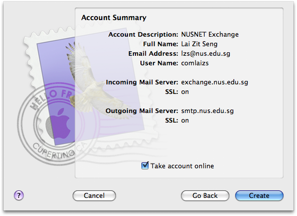 how to connect sfu email to mac mail
