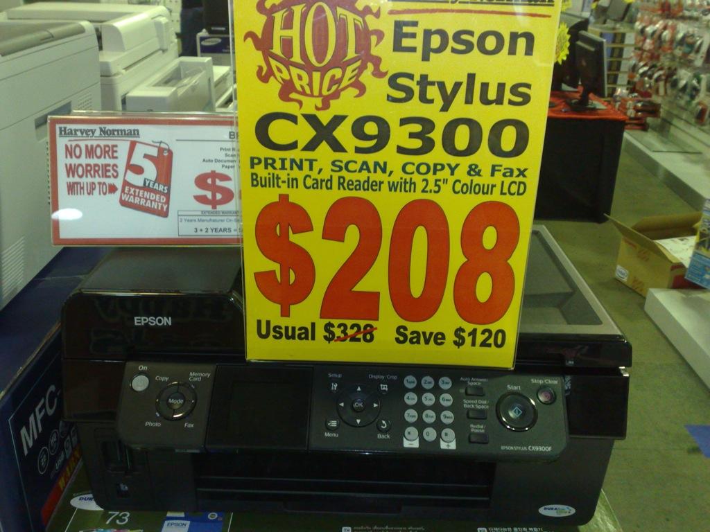 EPSON STYLUS CX9300F PRINTER WINDOWS 7 64 DRIVER