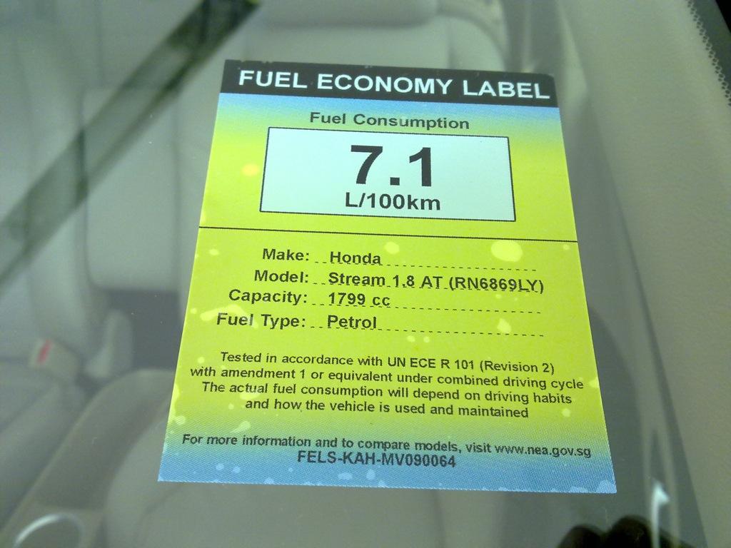 Fuel Economy Labeling in Singapore | Zit Seng\'s Blog