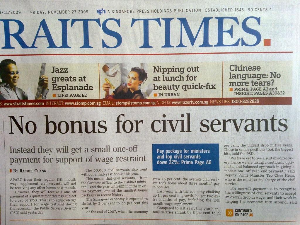 The Meaning of No Bonus | Zit Sengs Blog
