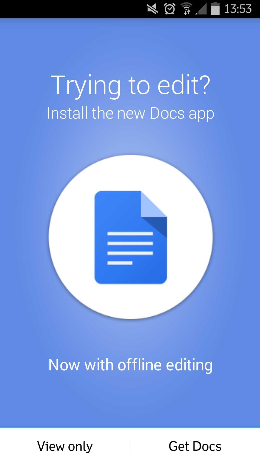 Google Drive Moves Editing to Standalone Apps