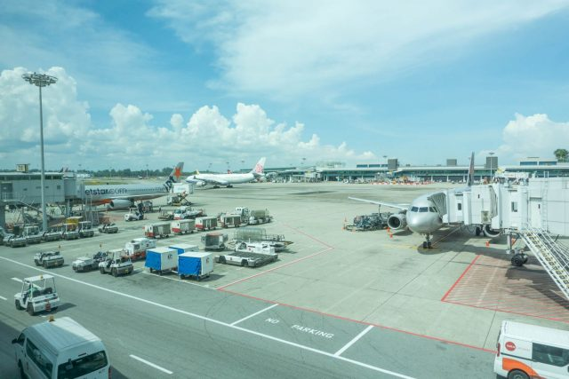 Planes at Changi Airport