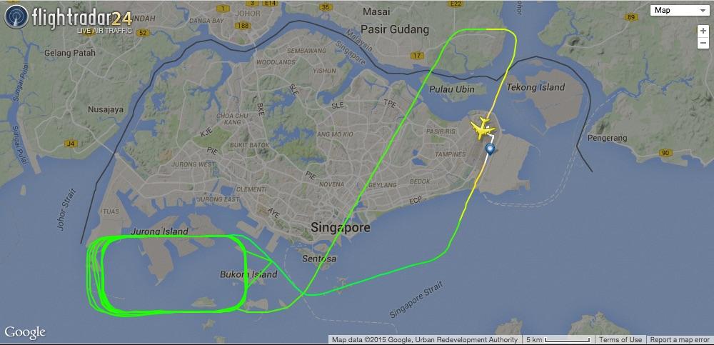 SG50 A380 flight route – Zit Seng\'s Blog