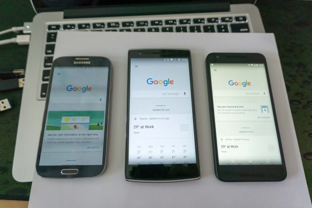 SGS4, OnePlus One and Nexus 5X