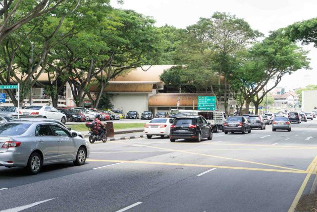 Traffic at Upper Bukit Timah Road