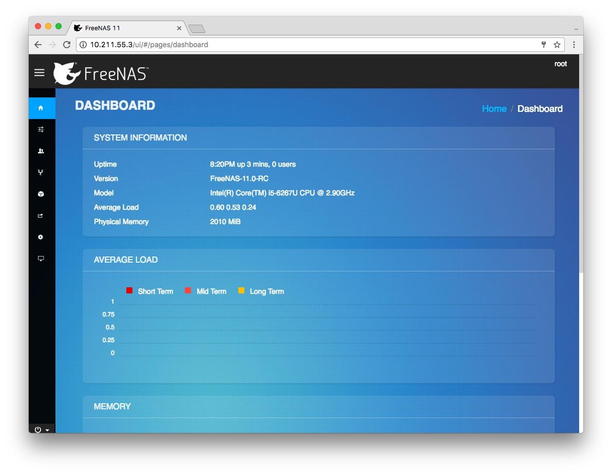 Quick Look at FreeNAS 11 RC – Zit Seng's Blog