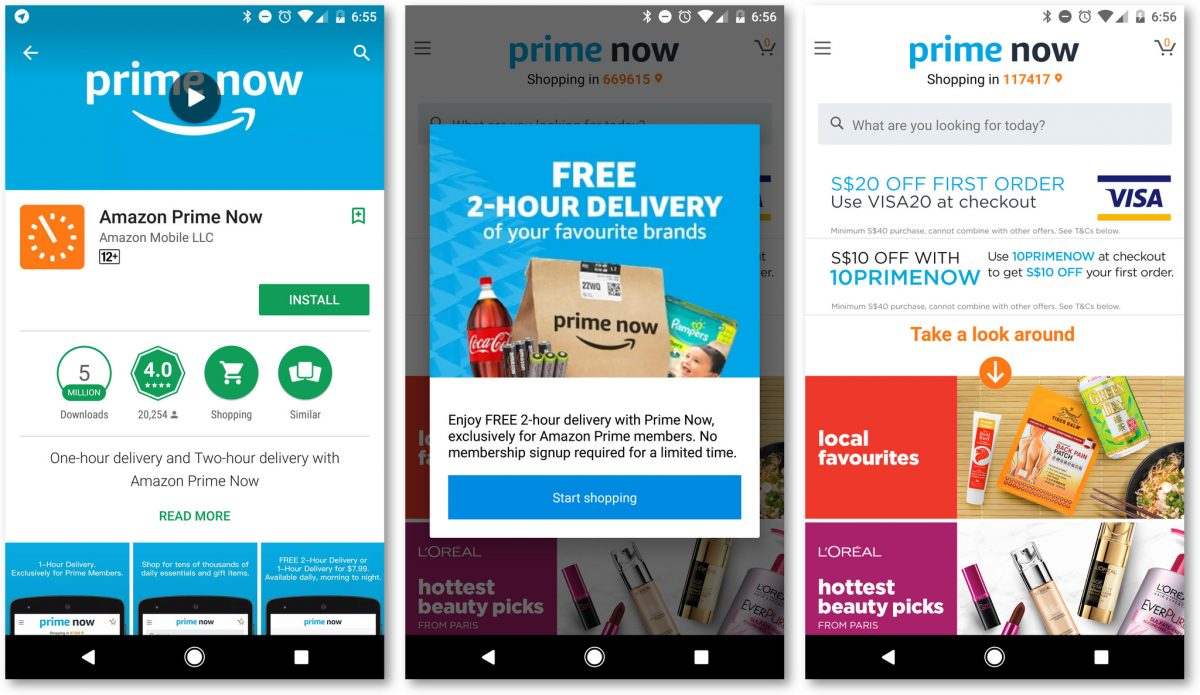 Amazon Prime Now Has Landed In Sg Zit Seng S Blog