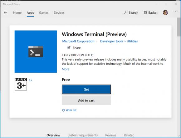 Windows Terminal Preview Available – Zit Seng's Blog